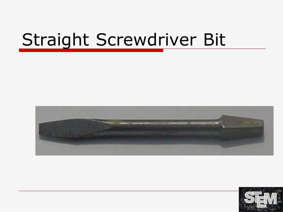 Straight Screwdriver Bit