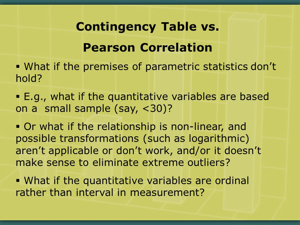 Contingency Table vs.