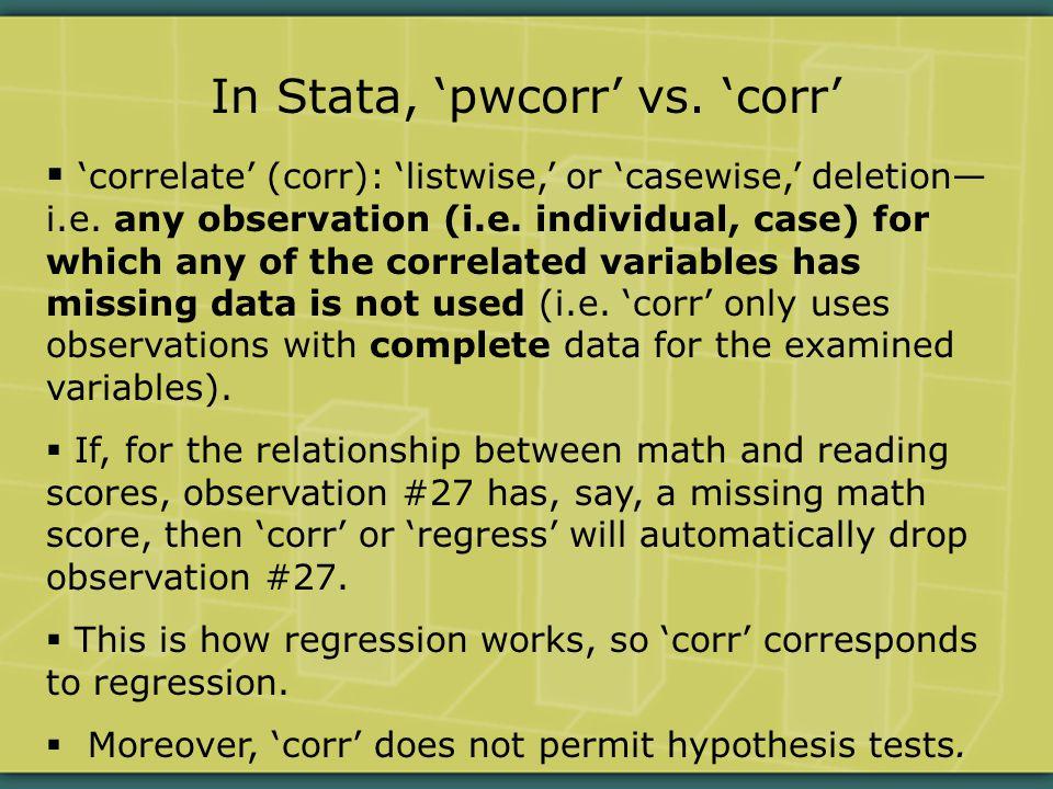  Non-parametric: rank data.