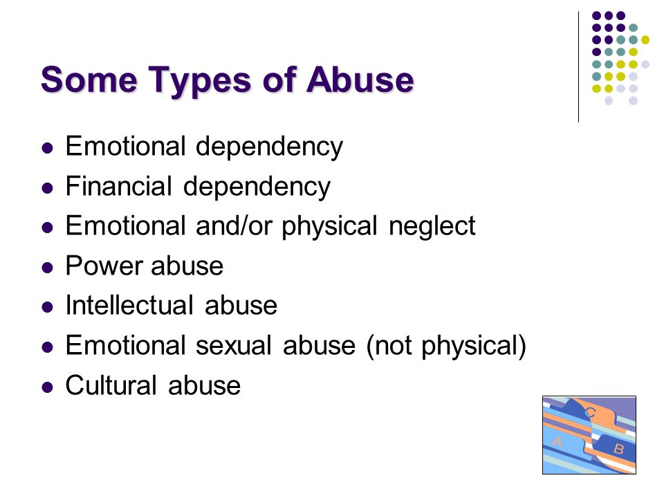 Cycle of Abuse Phase 1 - TENSION BUILDING: There's an issue and the tension increases, breakdown of communication, victim feels need to placate the abuser.