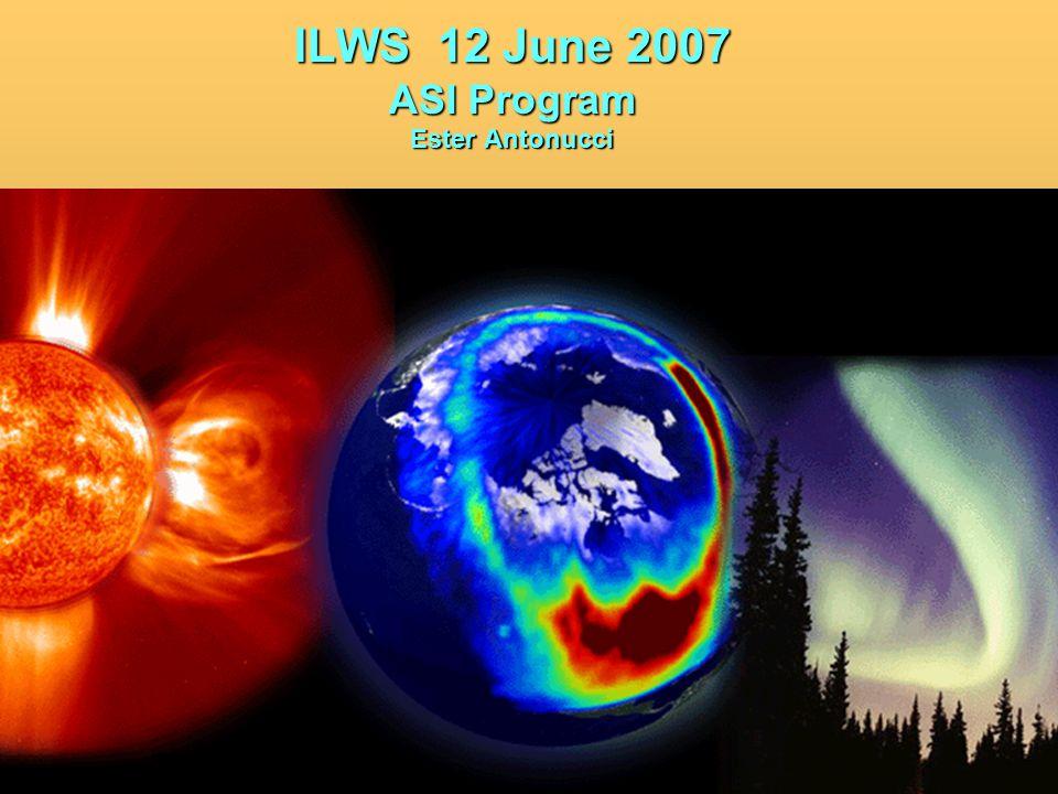 ILWS 12 June 2007 ASI Program Ester Antonucci
