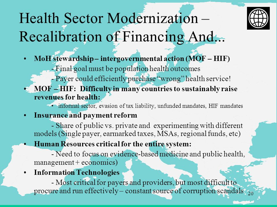 20 Health Sector Modernization – Recalibration of Financing And...
