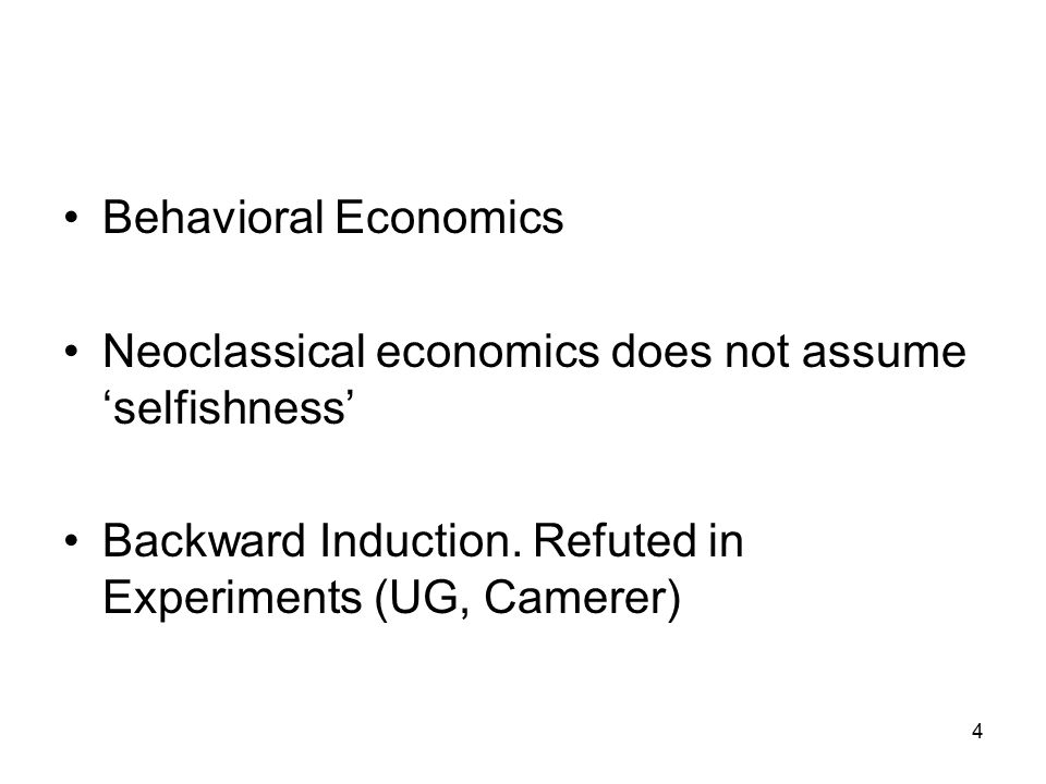3 K. Binmore and A. Shaked. Experimental Economics: Science or What ? http://www.econ3.uni-bonn.de/shaked/topics/ScienceOrWhat.pdf, 2007 A.Shaked. The
