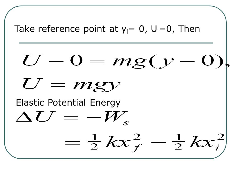 Determining Potential Energy: Example: Gravitational Potential Energy