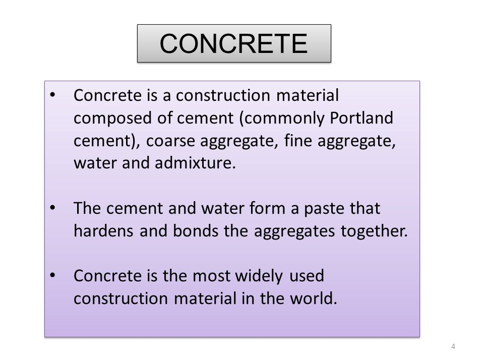 Compressive strength test results are primarily used to determine that the concrete mixture as delivered meets the requirements of the specified strength in the job specification.