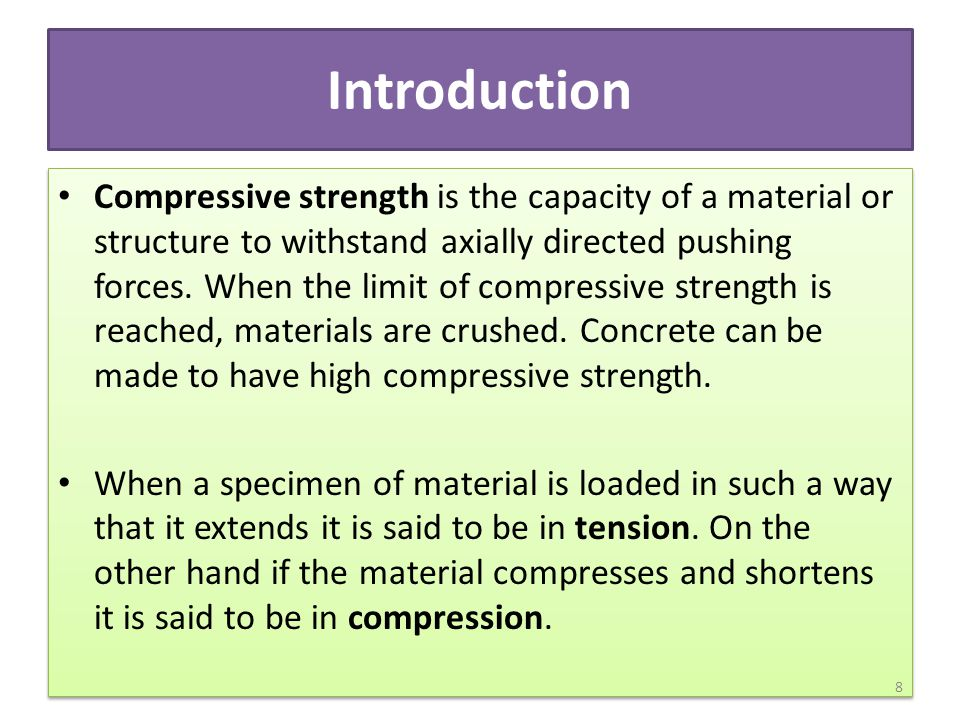 On an atomic level, the molecules or atoms are forced apart when in tension whereas in compression they are forced together.