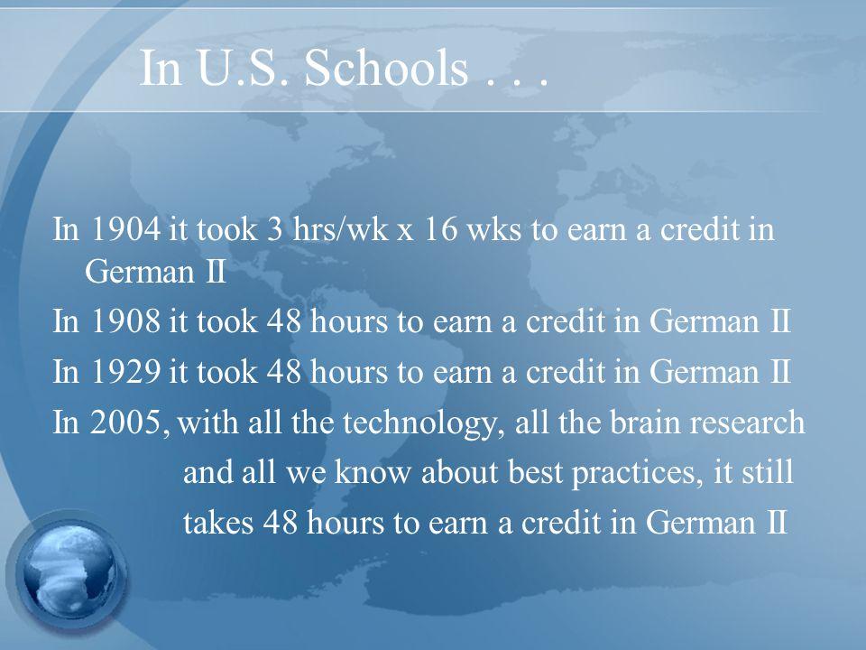 In U.S. Schools...