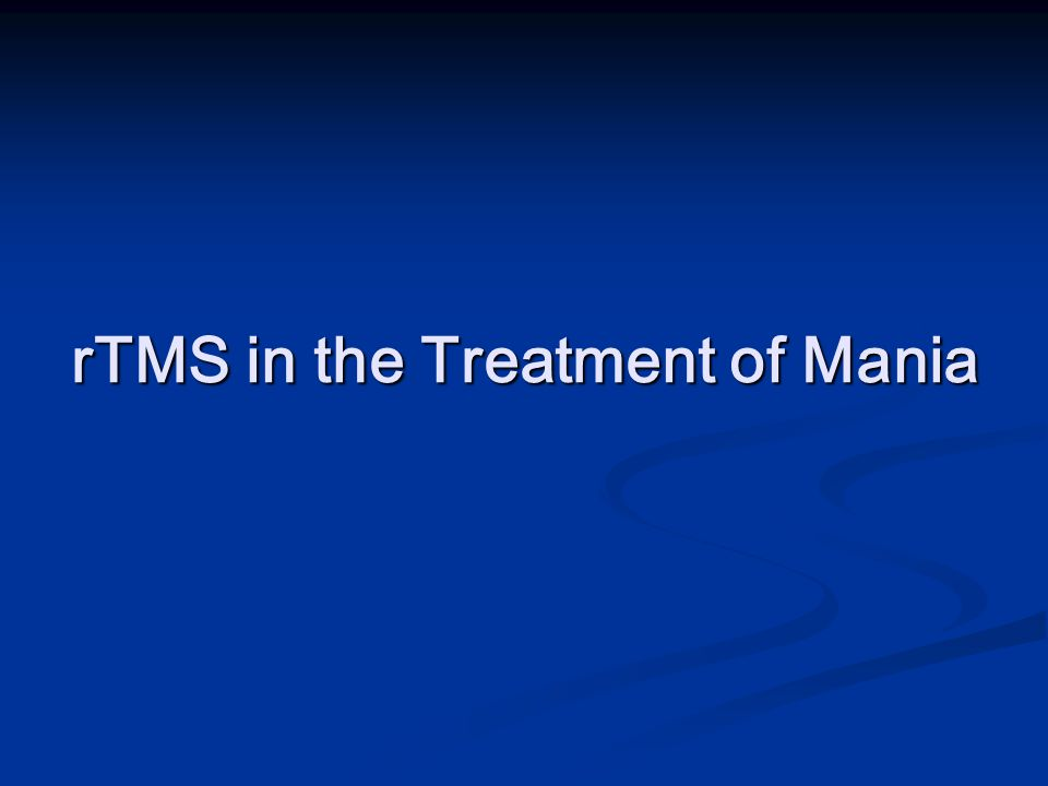 rTMS in the Treatment of Mania