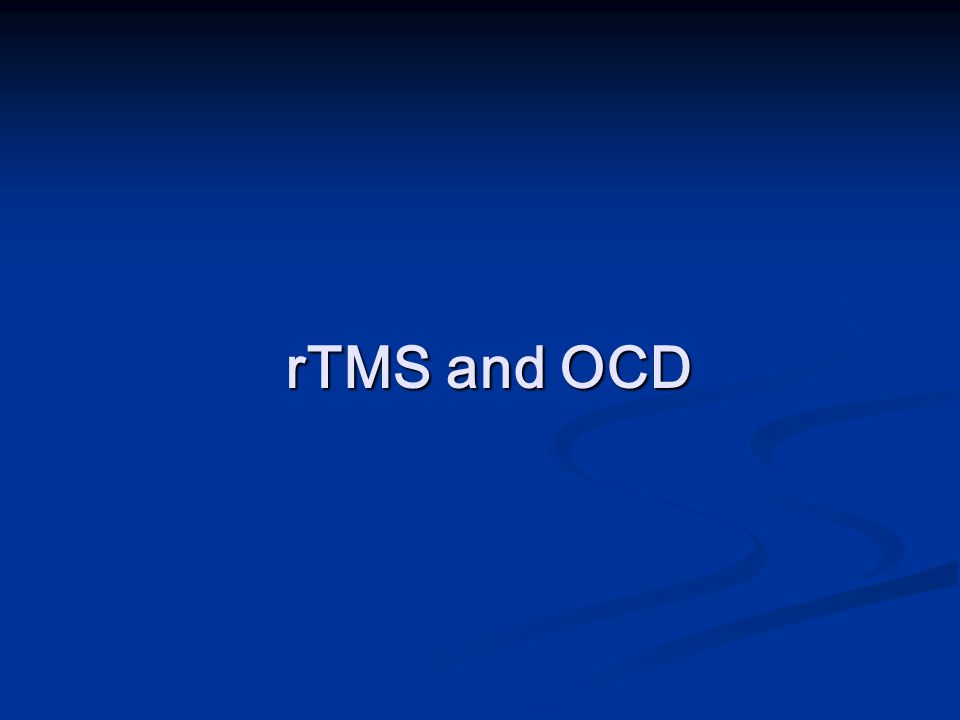 rTMS and OCD