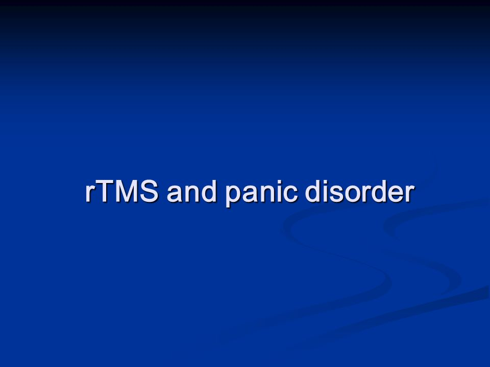 rTMS and panic disorder