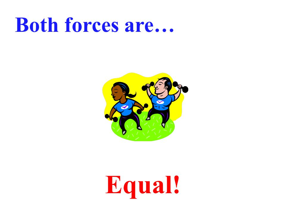 Both forces are…