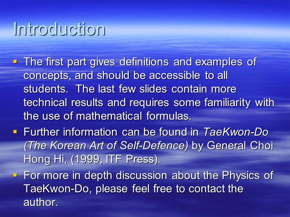 Introduction  The first part gives definitions and examples of concepts, and should be accessible to all students.