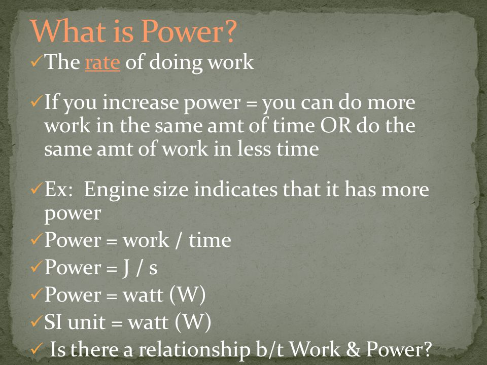 Efficiency = Work output 100 = _______% Work Input Always less than 100% Why = Friction!!!!