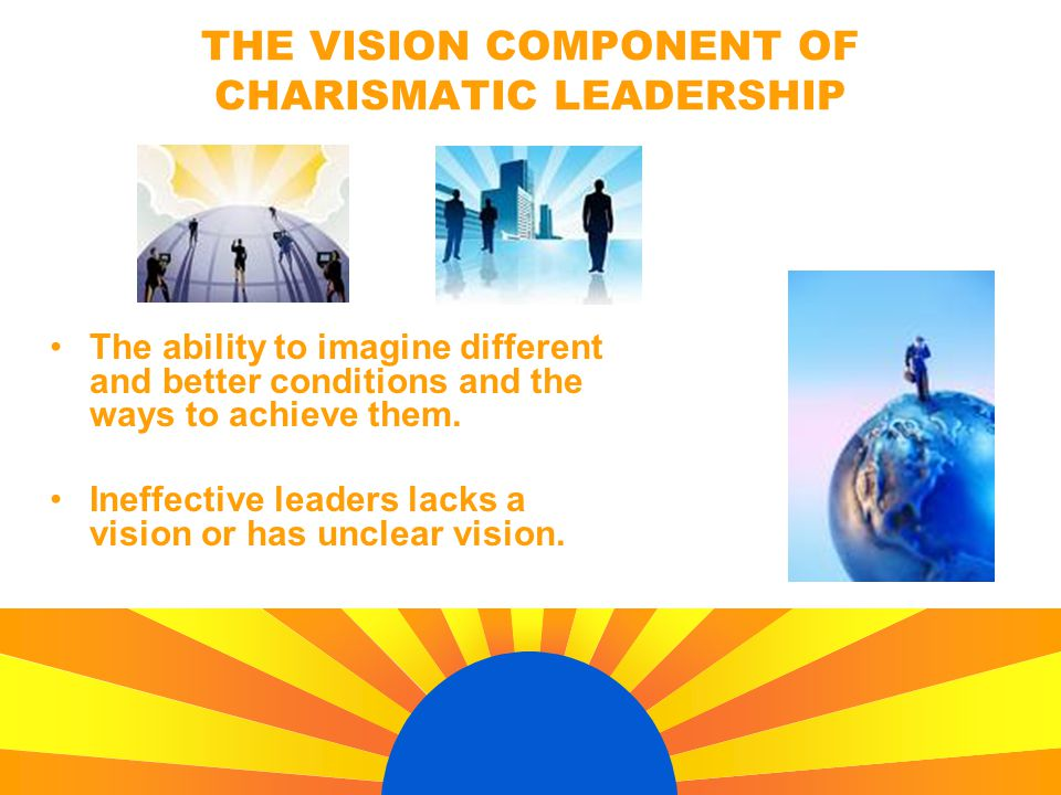 The ability to imagine different and better conditions and the ways to achieve them. Ineffective leaders lacks a vision or has unclear vision. THE VIS