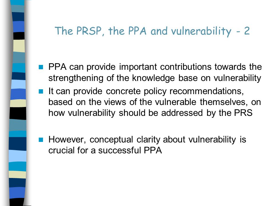 Vulnerability and Poverty - 2 Poor Wealthy High vulnerability Low vulnerability