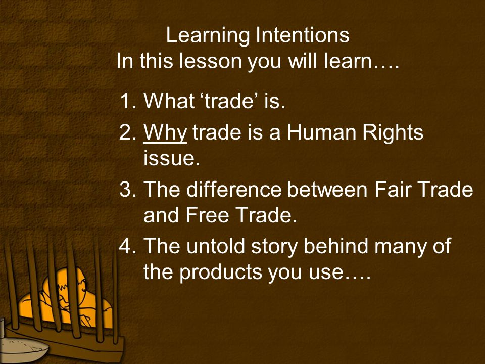 Learning Intentions In this lesson you will learn….