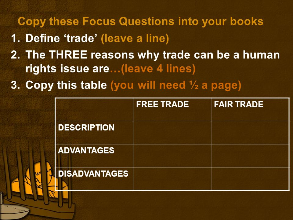 What is trade.Trade is the buying and selling of goods and services.