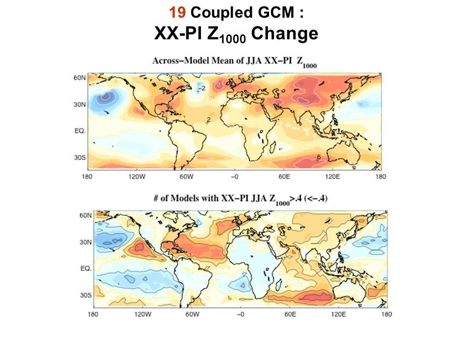 19 Coupled GCM : XX-PI Z 1000 Change