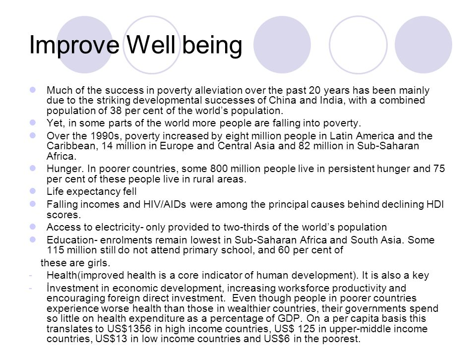 Improve Well being Much of the success in poverty alleviation over the past 20 years has been mainly due to the striking developmental successes of Ch