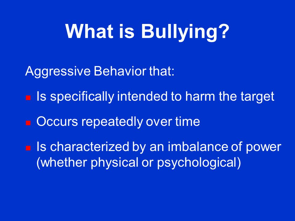 Bullying Among U.S. Youth Tonja R. Nansel, Ph.D. Postdoctoral Fellow Division of Epidemiology, Statistics and Prevention Research National Institute o