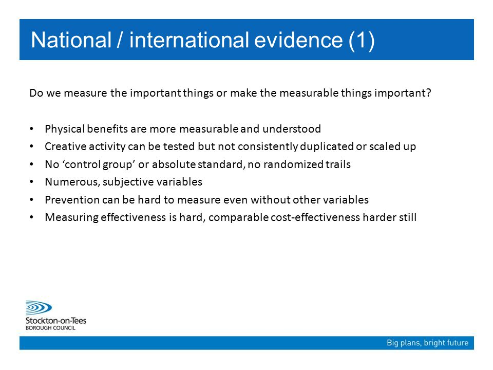 Do we measure the important things or make the measurable things important.