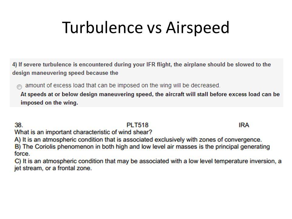 Turbulence vs Airspeed