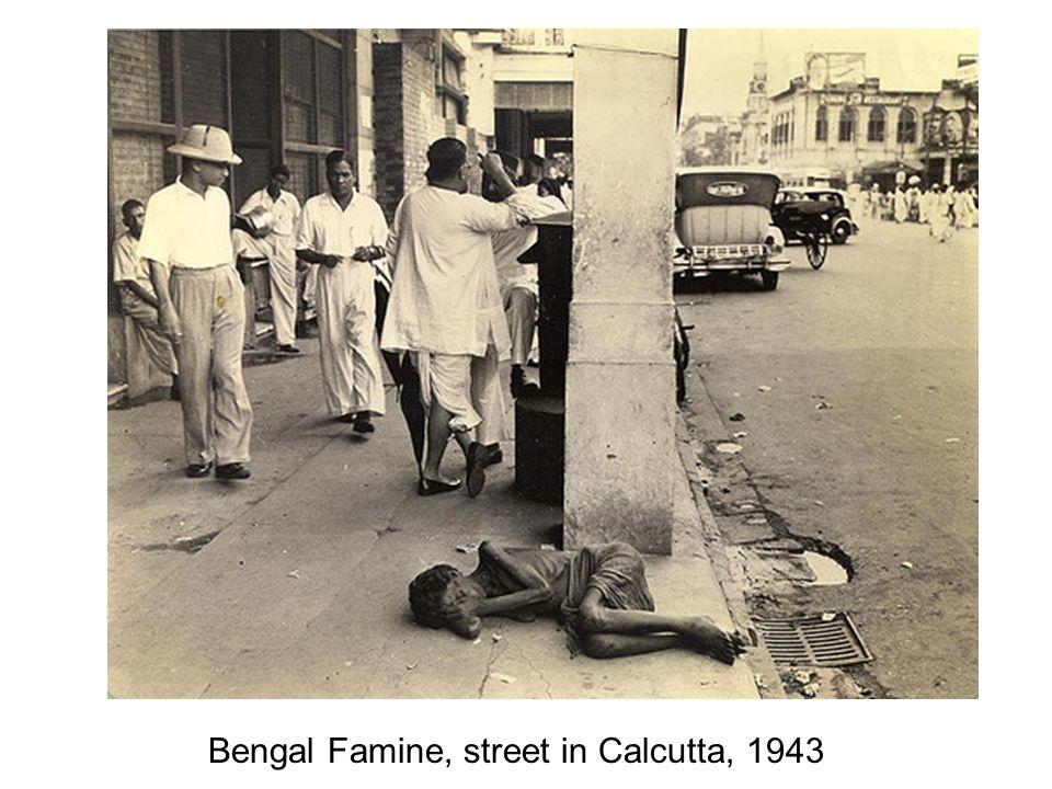 Bengal Famine, street in Calcutta, 1943