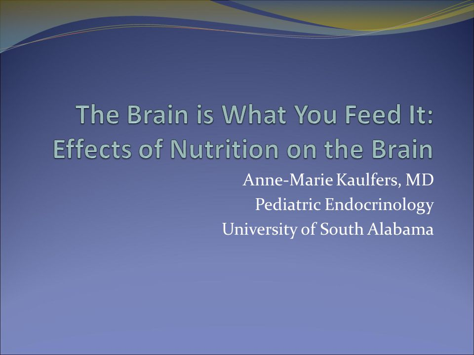 Anne-Marie Kaulfers, MD Pediatric Endocrinology University of South Alabama