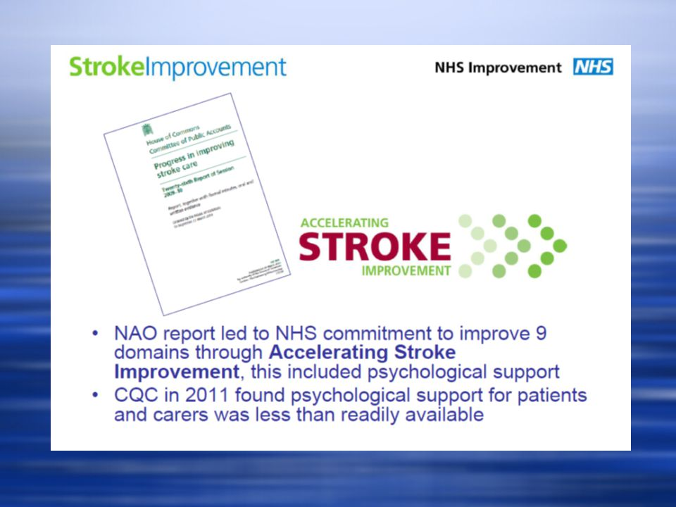 What could we do in Stroke Services.