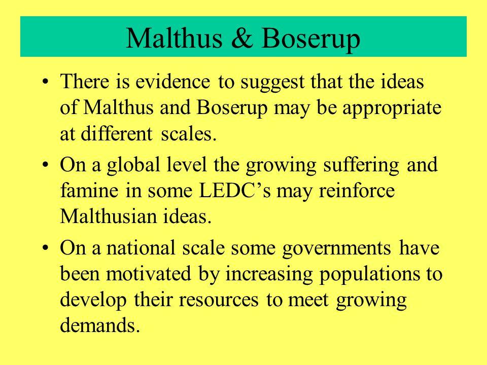 What happened next? Malthus - doom & gloom? OR Boserup - 'technological' change