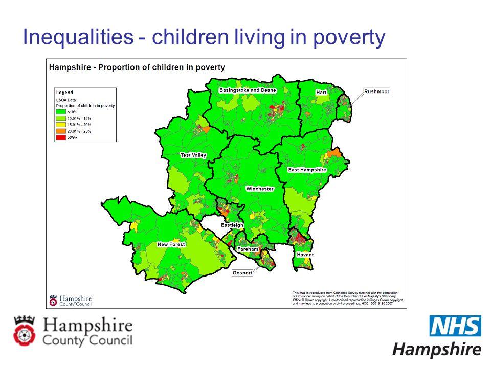 Inequalities - children living in poverty