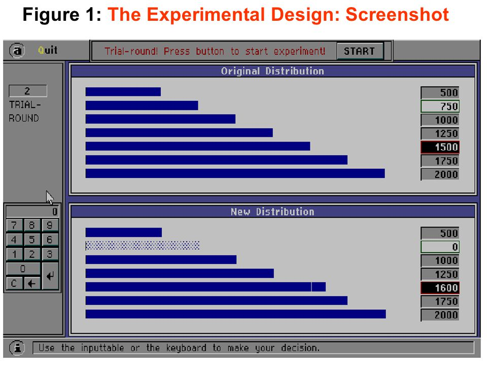 Figure 1: The Experimental Design: Screenshot