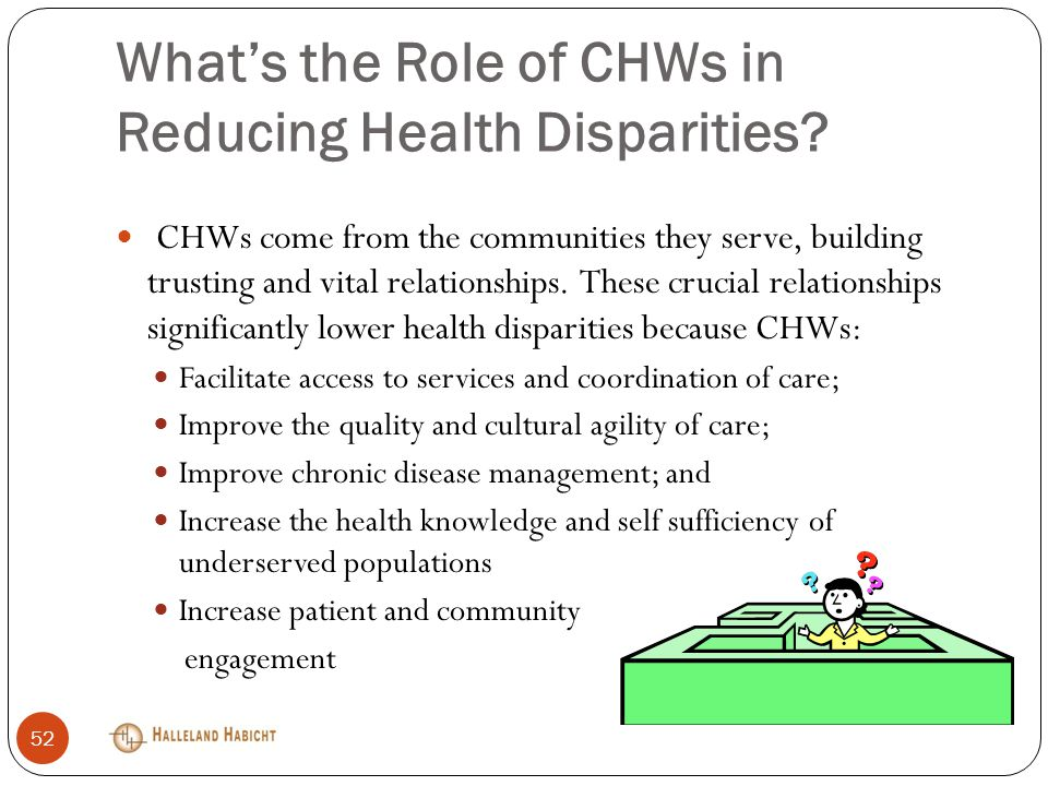 What's the Role of CHWs in Reducing Health Disparities.