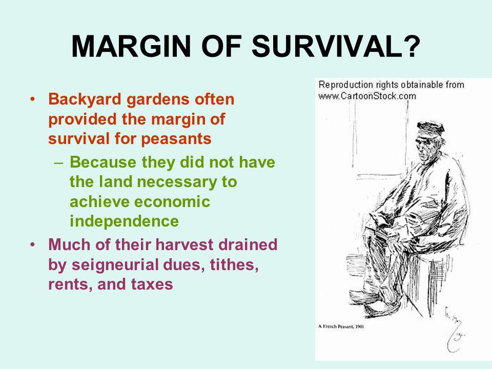MARGIN OF SURVIVAL.