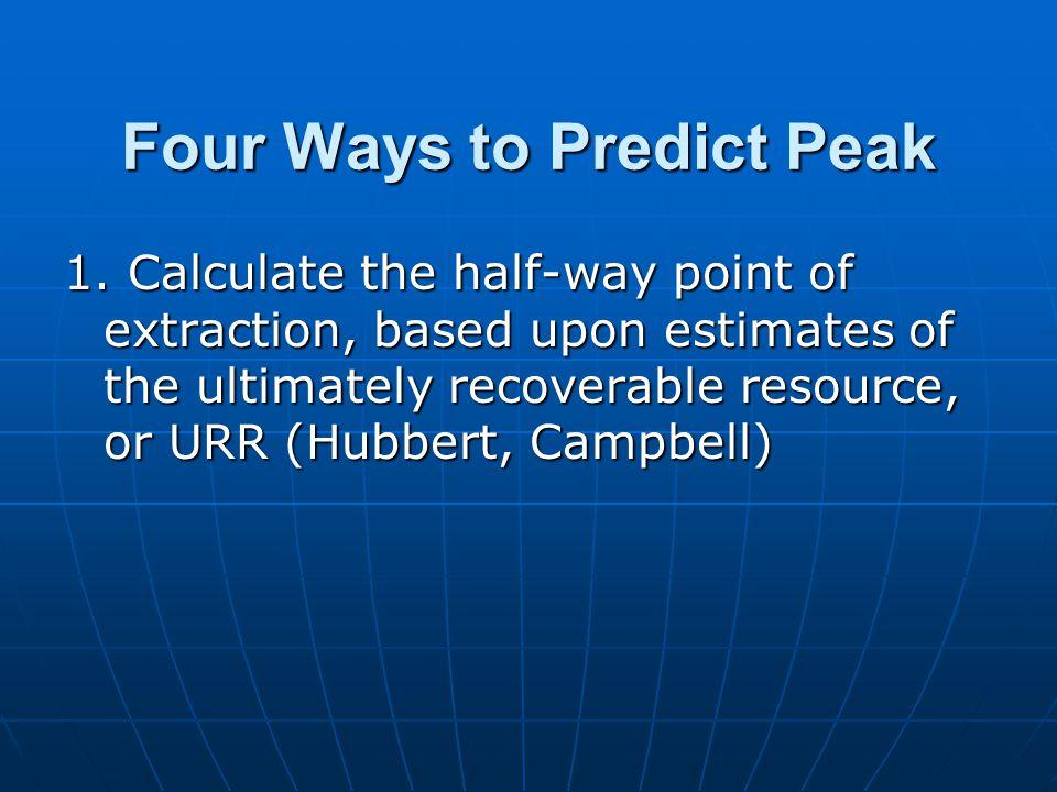 Four Ways to Predict Peak 1.