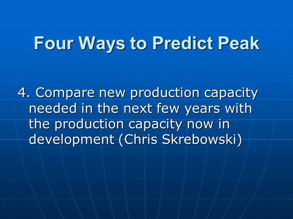 Four Ways to Predict Peak 4.