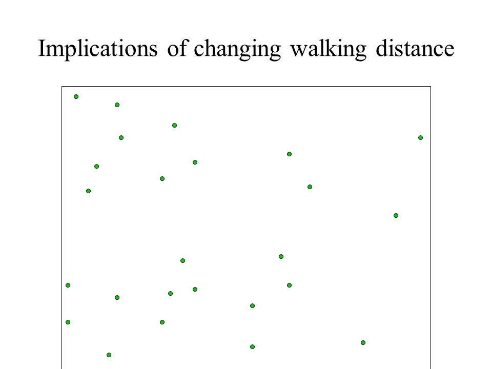 Implications of changing walking distance