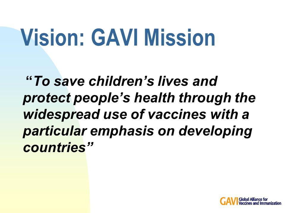 Financial commitments to GAVI objectives… so far .