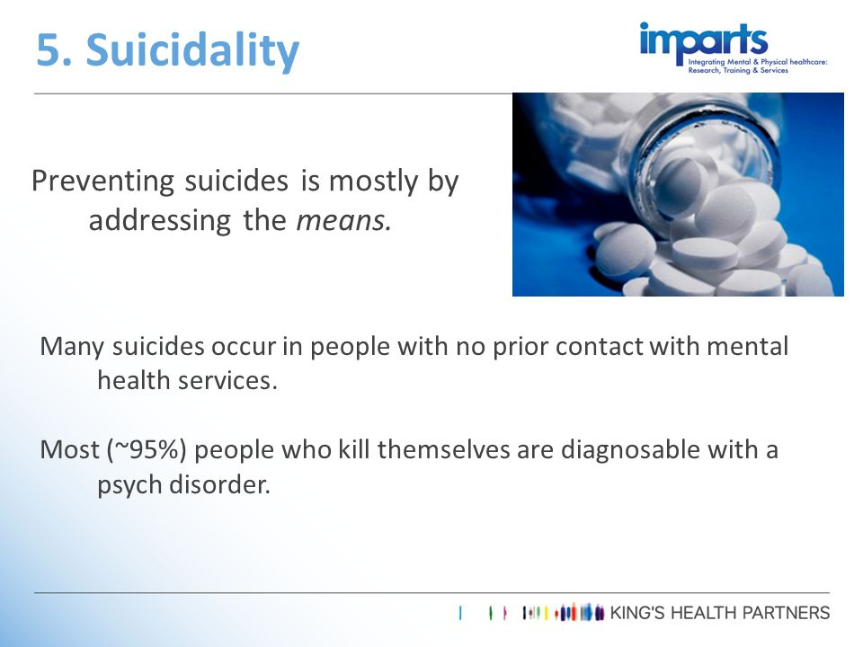 Preventing suicides is mostly by addressing the means.