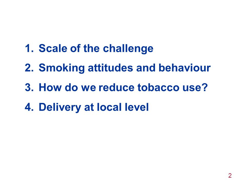 13 2. Smoking attitudes & behaviours