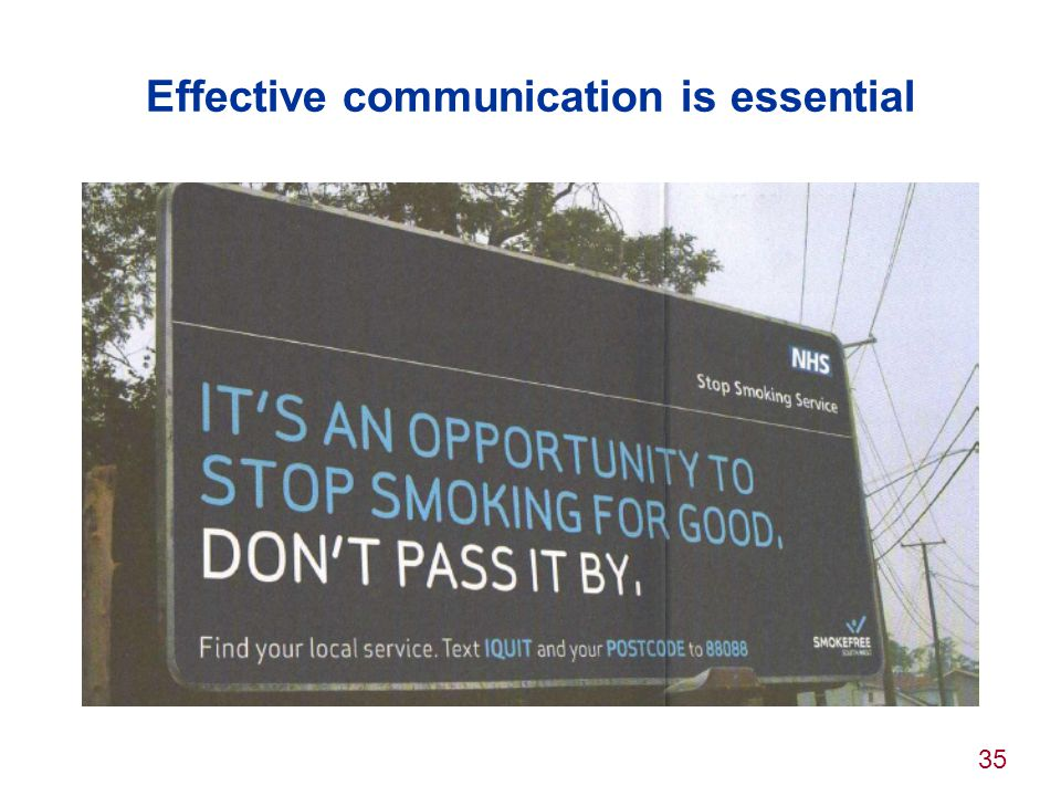 35 Effective communication is essential