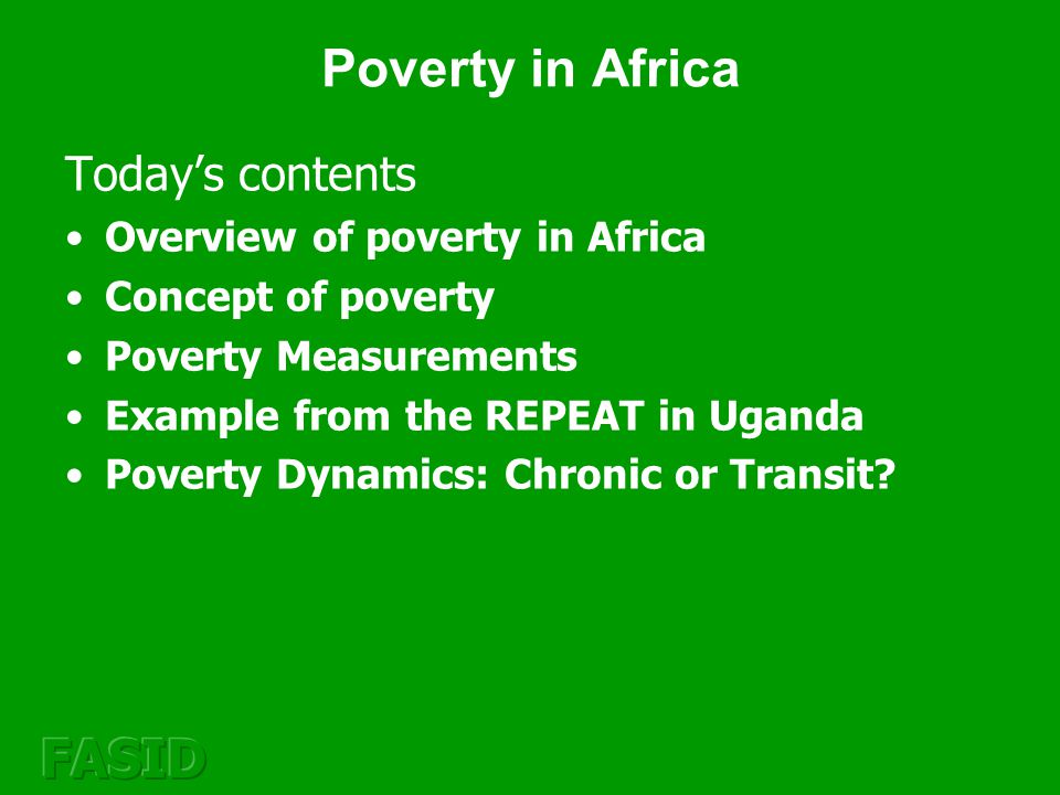 Comparisons of poverty measures The Headcount Ratio is an easy to use measure, but it does not capture the depth of poverty.
