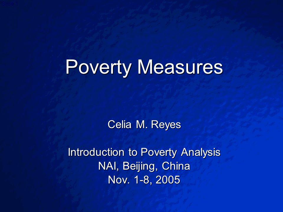© 2003 By Default!Slide 1 Poverty Measures Celia M.