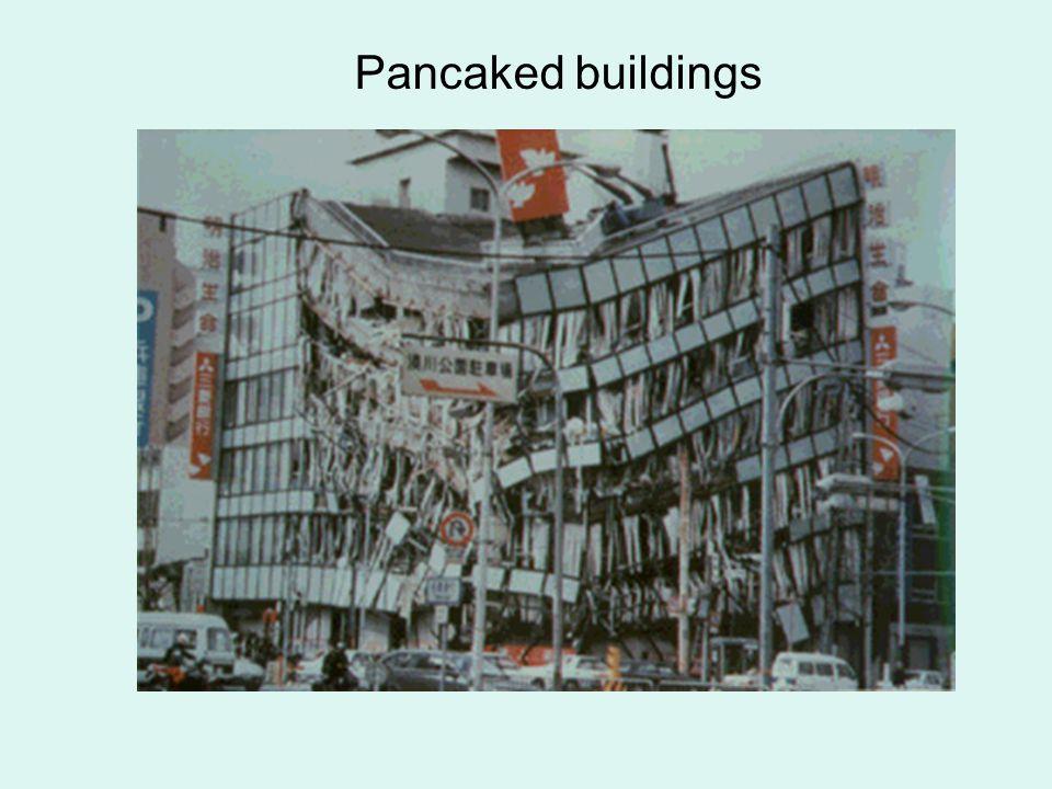 Pancaked buildings
