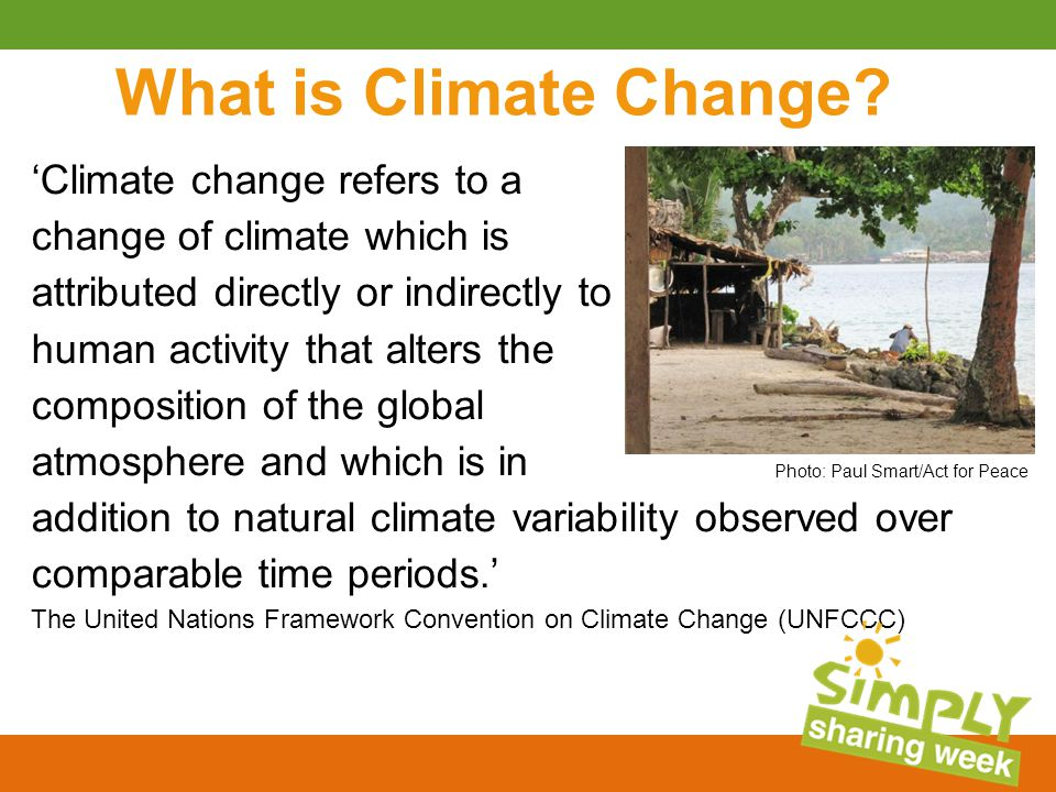What is Climate Change.