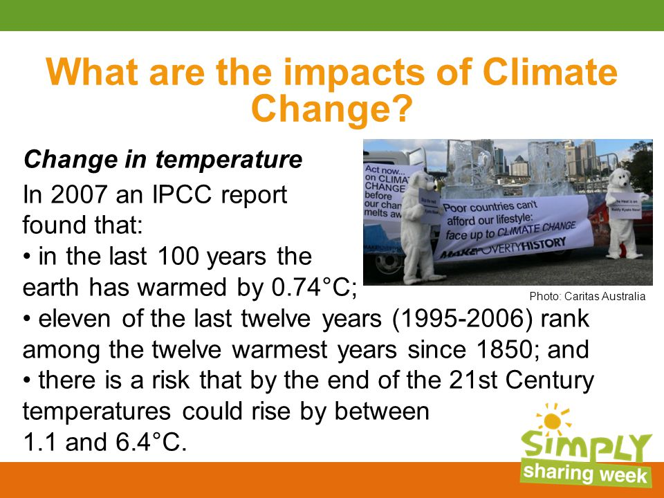 What are the impacts of Climate Change.