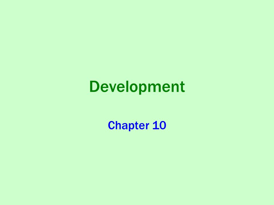 Development Chapter 10