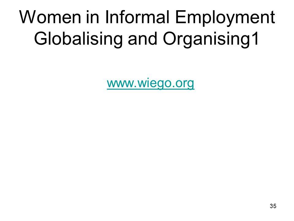 Women in Informal Employment Globalising and Organising1 www.wiego.org 35