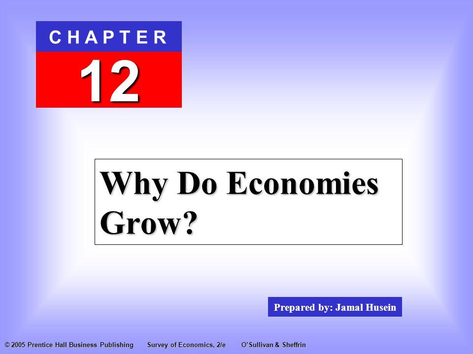 Prepared by: Jamal Husein C H A P T E R 12 © 2005 Prentice Hall Business PublishingSurvey of Economics, 2/eO'Sullivan & Sheffrin Why Do Economies Grow