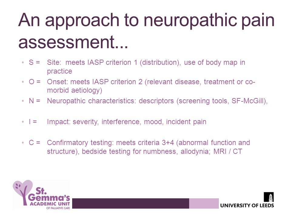 An approach to neuropathic pain assessment...